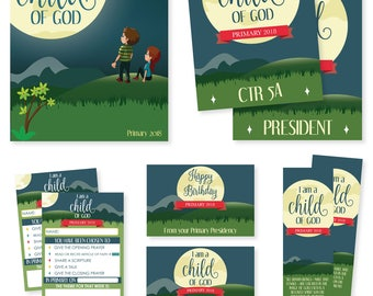 "2018 LDS Primary Theme - ""I am a Child of God"" - Basic Package - MB"