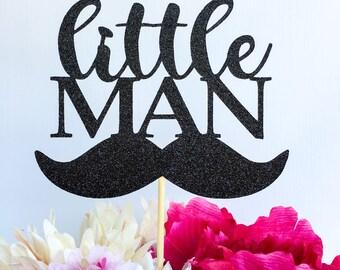 Little man cake topper | Mustache cake topper | Little man party | Mustache party | Little Man baby shower | Mustache baby shower