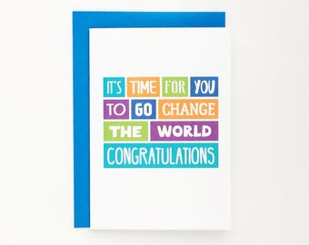 Congratulations Card | Graduation | Exams | Well Done | Good Job | Typography | Colourful | Blank | SE0022A6