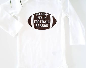 My 1st football season - My first football -  bodysuit - Baby clothing - Baby Boy & Girl Clothes - Baby gift - Baby football clothes