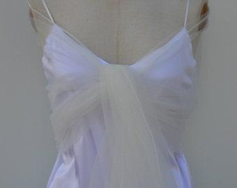 Ivory tulle bridal stole, ivory chiffon tulle, ivory wedding shawl, soft tulle, ivory, elegant, city, chic, ivory tulle