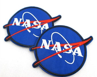 1 Piece -  NASA Embroidery Patch Iron On with glue - Approx. 3.75 inches