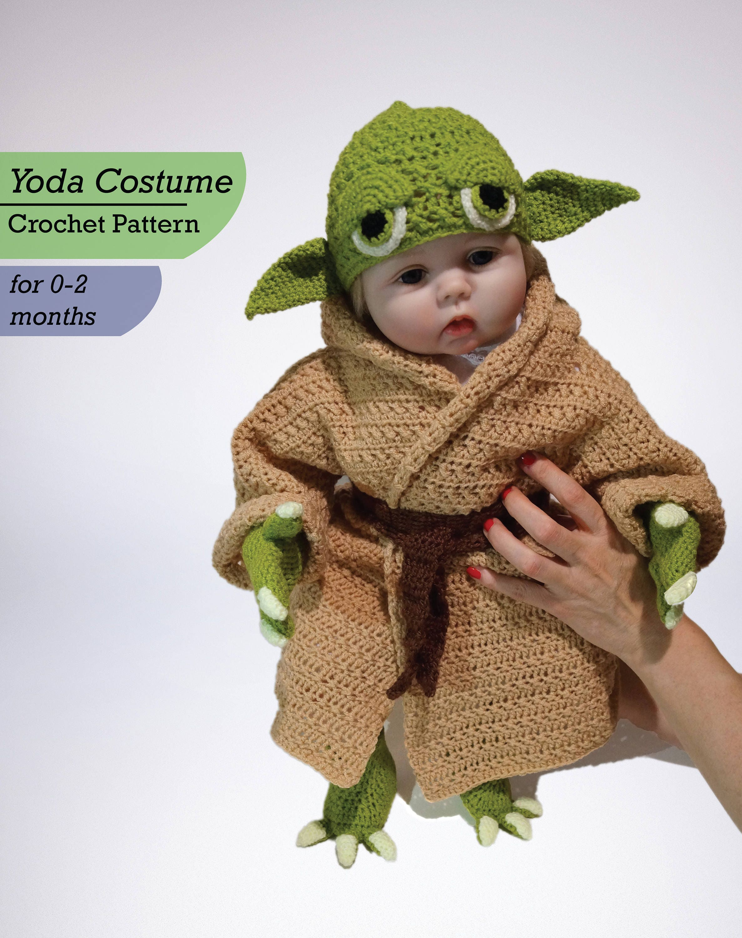 Infant yoda crochet costume pattern pdf star wars costume zoom bankloansurffo Gallery