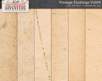 Antique Paper, Grunge Backgrounds, Stained, Distressed, Aged Paper, Commercial Use OK, Instant Download, Printable Digital Paper Pack