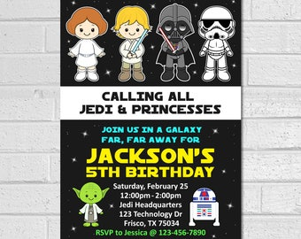 Star Wars Invitation,  Star Wars Birthday Invitation, Star Wars Party invitation