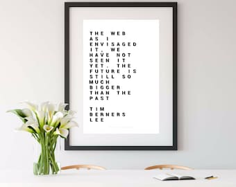 TIM BERNERS LEE,  tim berners-lee, science gift, nerdy printable art, geek printable art, geek gift, engineer gift, computer science, a4, a3
