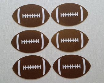 Football Die Cut set of 6
