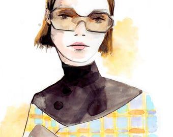 Prada Spring 2017 Art Print Fashion Illustration, Fashion Sketch, Fashion Art, Watercolour Illustration