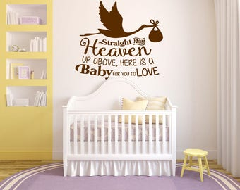 Wall Sticker Decal Nursery Newborn Baby Boy Girl Quote kids bedroom  1673b