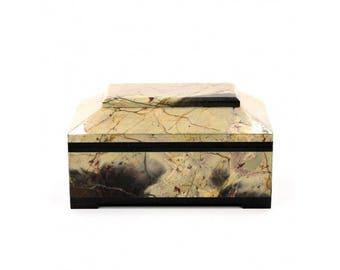 Jewelry box for jewelry made of Jasper 120*80*70 mm