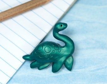 Nessie Pin, Nessie Lapel Pin, Loch Ness Monster, Loch Ness Pin, Cryptid Pin, Plesiosaur Pin, Cryptozoology Lapel Pin, Cute Cryptid Pin