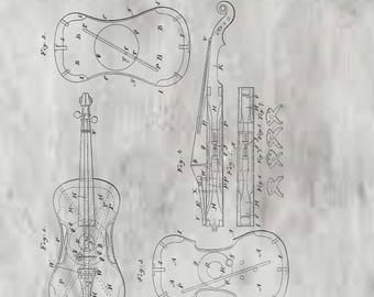 Violin Patent # 36713 dated October 21, 1862.