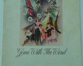 Vintage 1939 AUTHENTIC Gone With The Wind Collectible Movie Program GWTW Scarlett O'Hara - Rhett Butler MGM