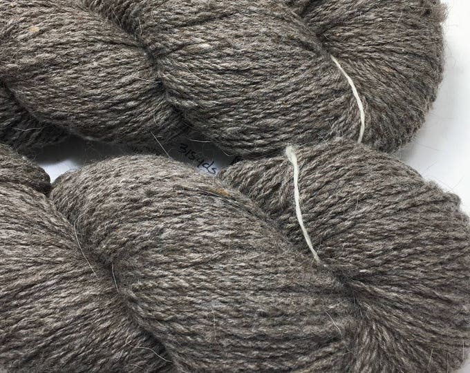 Locally grown and milled wool & angora 2 ply sport weight yarn.  Natural colors for your next knitting, crochet or weaving project.