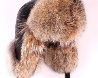 "Male hat ""Malachai"" made of fur Cayot Aviator, Pilot"