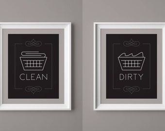 Laundry Room Decor, Laundry Print, Laundry Wall Art, Laundry Quote, Laundry Art, Dirty Laundry, Clean Laundry, Instant Download Printable