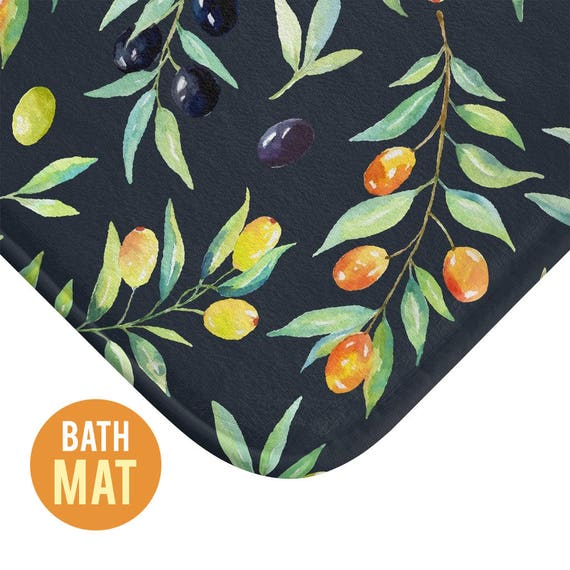 Olives Bath Mat - Available in Two Sizes