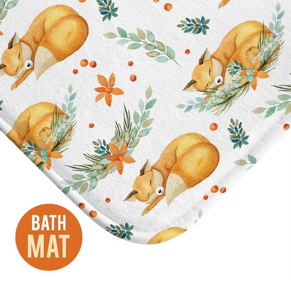 Cute Fox Bath Mat - Available in Two Sizes