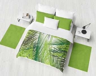 Leaves Duvet Cover, Kids Bedding , Designer Bedding , Bedroom Decor , Dorm Bedding , Queen Duvet, King Duvet, Twin Duvet , Leaves , Nature
