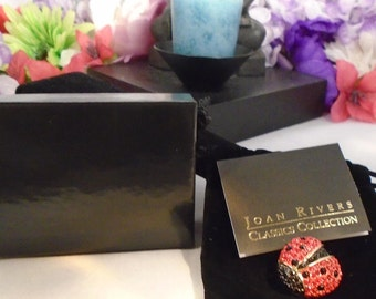 Reduced - Vintage NWOT Joan Rivers Lady Bug Brooch - The Pin comes in a Joan Rivers Black Box with Joan Rivers Certificate of Authenticity.