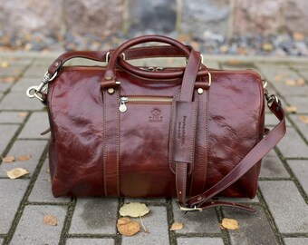 Overnight bag, Small travel bag, Leather duffel bag, Weekender bag, Carry on bag - The Ambassadors