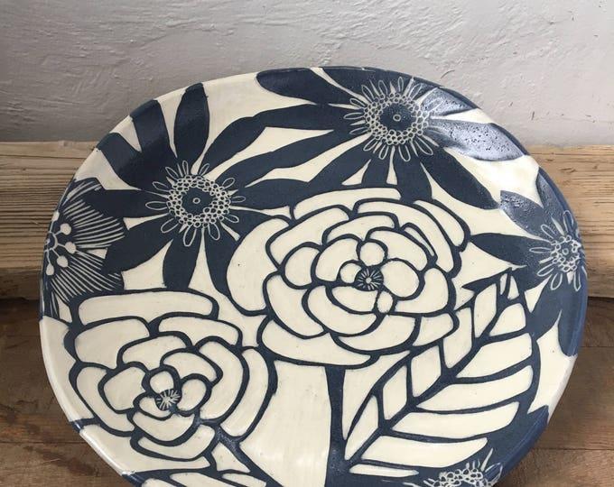 Handcrafted Floral Platter