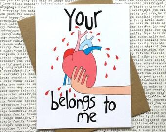 Funny Valentine Card, Funny Valentine Card Boyfriend, Funny Valentine Card For Her, Funny Valentines Day Card, Cute Valentine Card