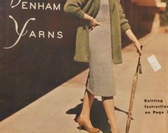 Knitting Book Magazine Pauline Denham Knitting Book No. 7 Dresses Sweaters Cardigans Vintage 1960s