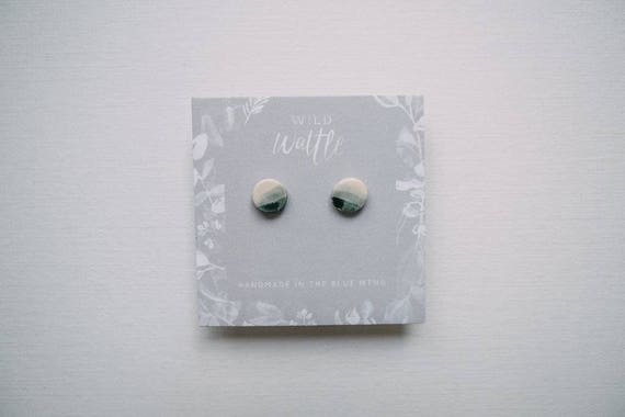 Sea Change Studs in Earthenware