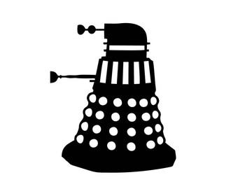 Dr Who Dalek Vinyl Decal Sticker