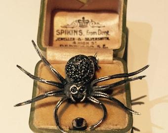 Spider brooch, Vintage Silver Spider Brooch,fantastic item.