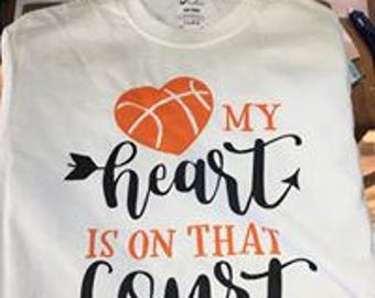 My Heart Is On That Court shirt