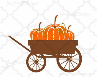 Fall Pumpkin SVG, DXF, EPS, png Pumpkin wagon svg, cutting files. Floral pattern, for use with Silhouette Studio and Cricut Design Space.
