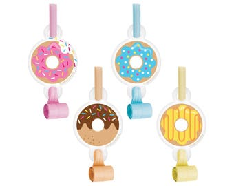 Donut Party Favors - Donut Party - Donut Birthday - Noisemaker - Sprinkles Birthday - Donut Baby Shower - Blowouts - Donuts - Party Supplies