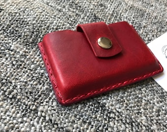 Business Card Holder, Card Case, Card Wallet, Gift for her, Gift for Him - 'RED'