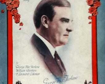 Every Road Leads Me Back To You vintage sheet music by George MacFarlane, portrait cover 1920 Voice and Piano
