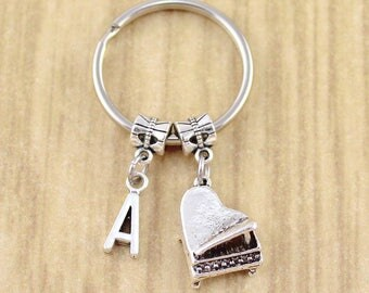 Personalized Piano Keychain • Silver Piano Key Ring • Pianist Gift • Musician Gift • Piano Gift • Classical Music Gift • Sweet Ride Acc.