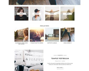 "Blogger Template Responsive - Blog Design - Customizable Blog Theme - Clean, Minimal - ""Anaise"" - premade blogger theme - slider - drop down"