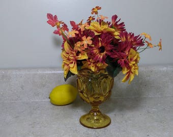 Amber LE Smith Moon and Stars Glass Compote Planter Goblet 3601