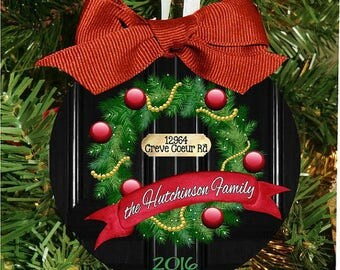 Christmas Ornament, New Home Ornament, Moving Christmas, Personalized Ornament, Xmas Ornament, Christmas Gift, Family, Holiday Gift