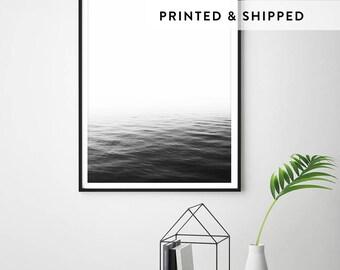 Ocean print, black and white ocean, ocean minimalist, ocean wall art, ocean photography, minimalist print, scandinavian wall art, ocean art