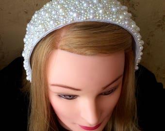 Hand Beaded Bridal Headpiece