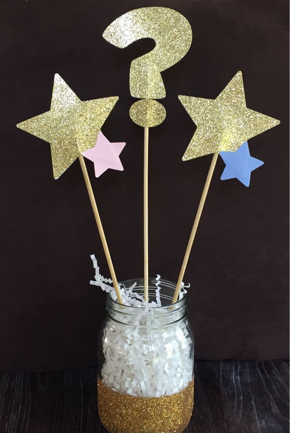 Gender Reveal Centerpiece, Gender Reveal Cake Topper, Twinkle Twinkle Little Star, Baby Shower