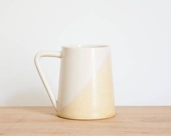 Colorblock Coffee Mug  |  Pottery mug  |  Ceramic mug  |  Gift for mom  |  Stoneware mug  |  Pottery Mugs | Pottery coffee mugs | Coffee cup