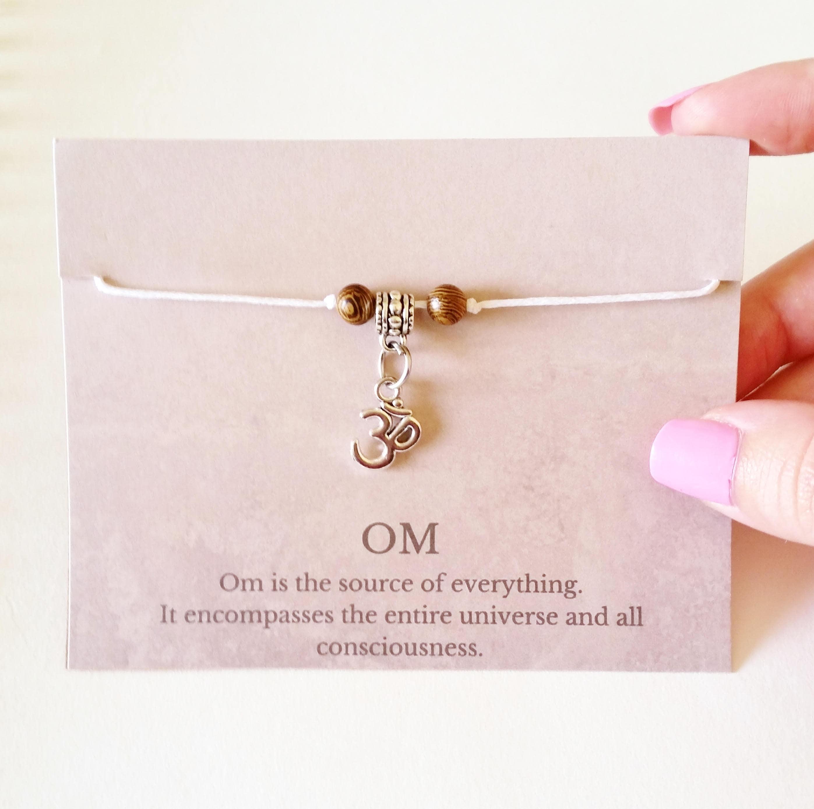 Om Wish String Bracelet Om Bracelet Om Symbol Bracelet Stocking