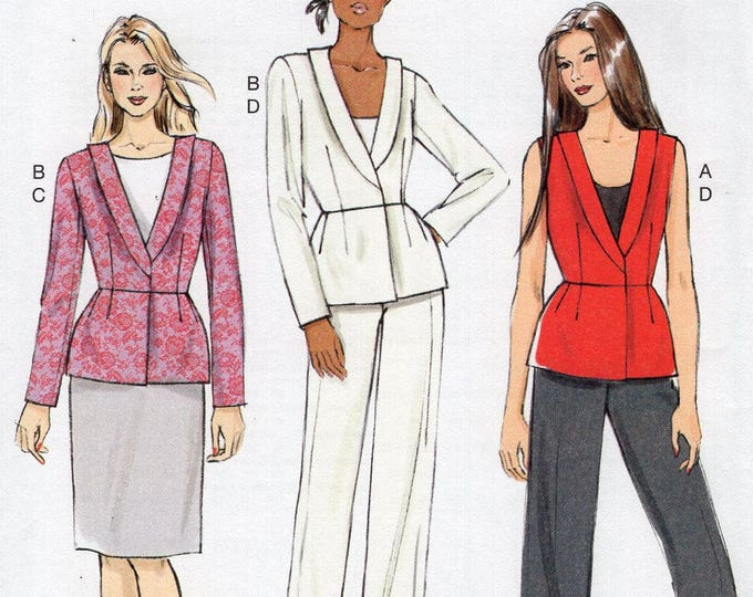 Vogue 9066 Free Us Ship Sewing Pattern Top Pants Skirt Size 6/14  6 8 10 12 14  Bust 30 31 32 34 36 (Last size left)  Uncut