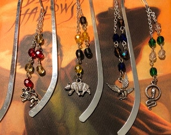 Harry Potter bookmark - Hogwarts House bookmark - Wizard Collection (set of 4)
