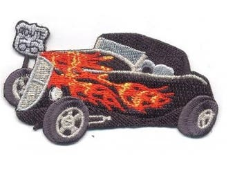 Ford Hi-Boy Classic Car Hot Rod Route 66 Patch (Iron on)