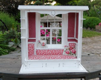Handmade Bed Nook Miniature 1:6 Pullip Blythe Momoko Barbie BJD Lati