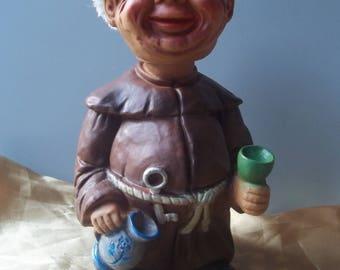 Heico Nodder Monk Bobble Head Happy Drunk Doll West Germany